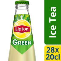 Liptonice tea clear green glazen flesjes