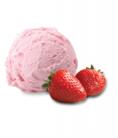 Aardbeien ijs