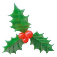 Hulstblad groen 3-delig