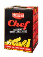 Chef frying oil