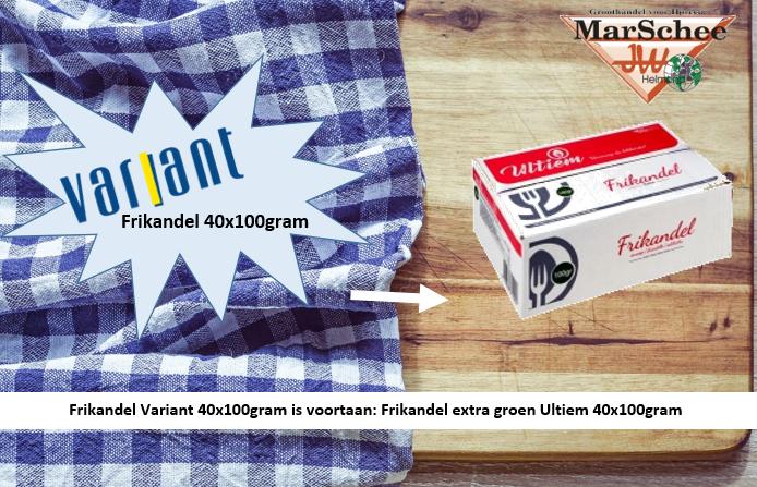 Frikandel - Variant 40x100gram is voortaan frikandel extra - Ultiem